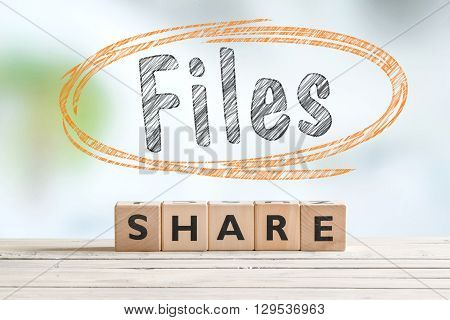File Sharing Sign On A Table