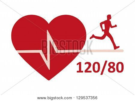 Cardio metabolic logo or icon -  vector,