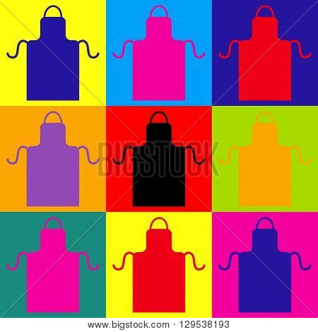 Apron simple icon. Pop-art style colorful icons set.