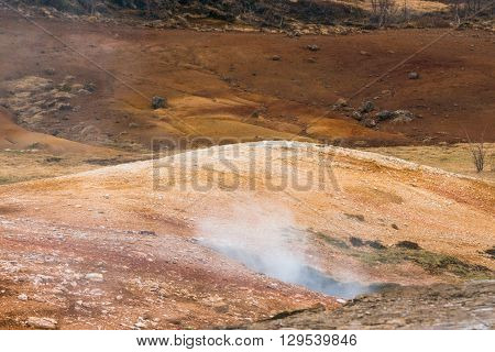 Geothermal Activity In Icelandic Nature