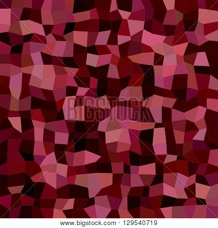 Maroon color irregular rectangle mosaic vector background