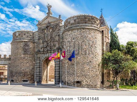 Gate of Alfonso VI (Puerta de Alfonso VI)in ToledoSpain