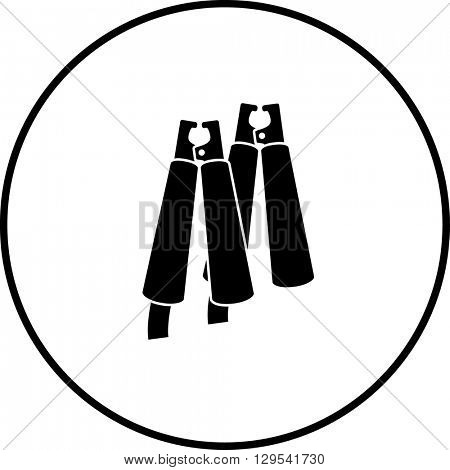jumper cables crocodile clips symbol