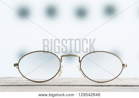 Glasses On A Table With Blurry Background