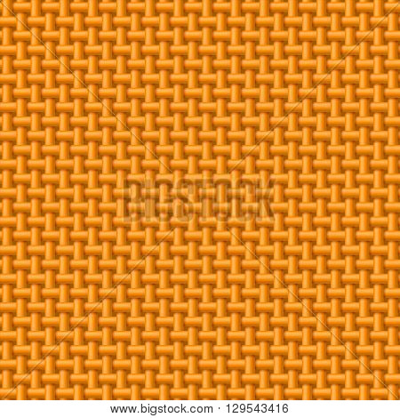 Seamless pattern of orange cloth. Abstract fabric background