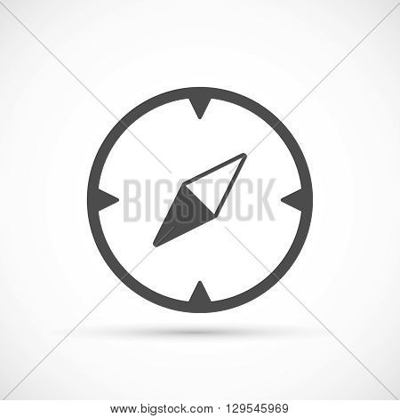 Compass basic icon. Navigation equipment for travel symbol