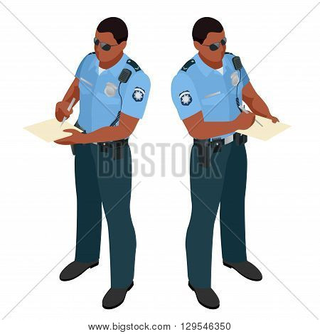 Policeman in uniform. Policeman icon. Policeman vector