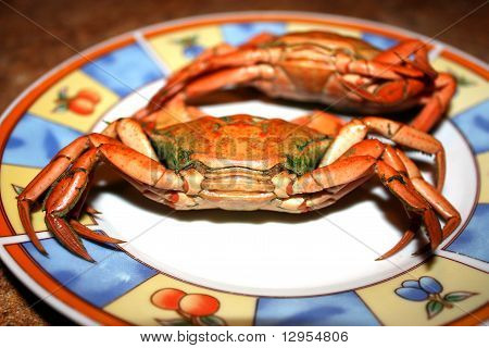 Crabs on the plate