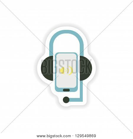 paper sticker on white background  mobile phone volume
