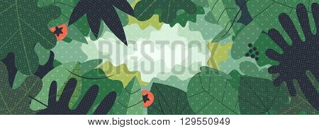 Green web vegetable background of leaves. Perfect for web headers.
