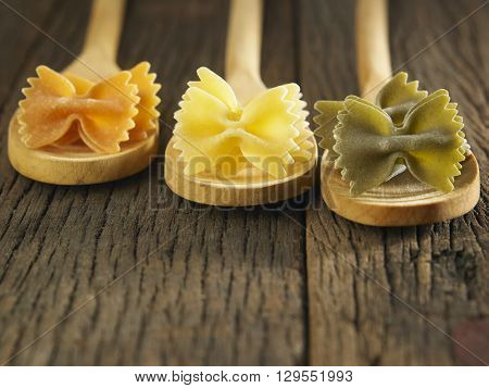 A portion of Farfalle bows pasta
