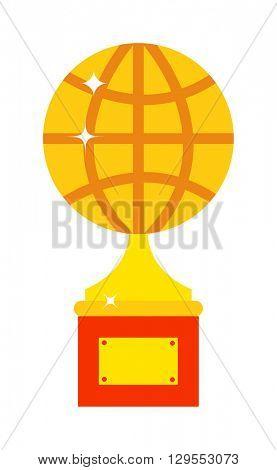 Globe award vector illustration.