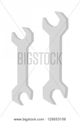 Spanners vector illustration.