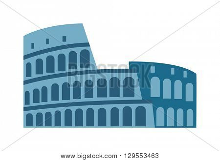 Coliseum isolated vector illustration.