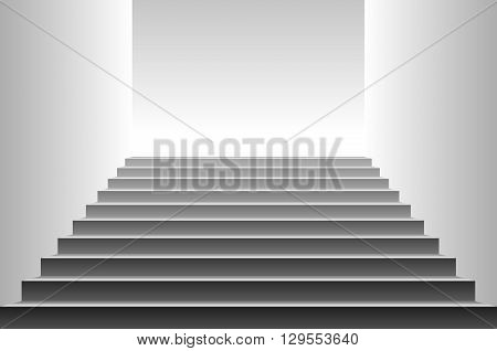Stairs. Detailed Illustration Of Black Stairs, Eps10 Vector