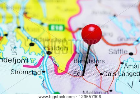 Ed pinned on a map of Sweden