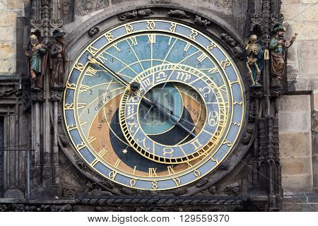 Astronomical Clock Orloj in the Old Square of Prague. Czech Republic.