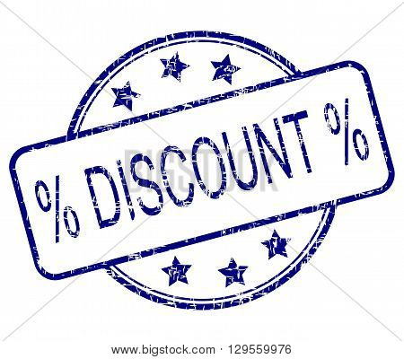 blue Discount rubber stamp - Illustration on white background