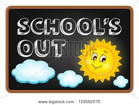 School holidays theme image 1 - eps10 vector illustration.