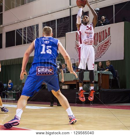 Bc Krasnye Krylia Guard Bracey Wright (34) Goes Up For A Shot
