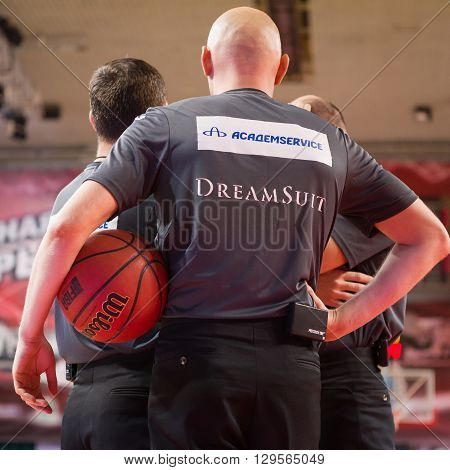 Referees During The Basketball Game