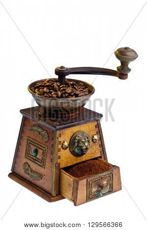 coffee. coffee beans and coffee grinder