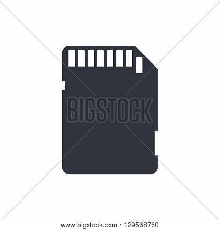 Sd Card Icon In Vector Format. Premium Quality Sd Card Symbol. Web Graphic Sd Card Sign On White Bac