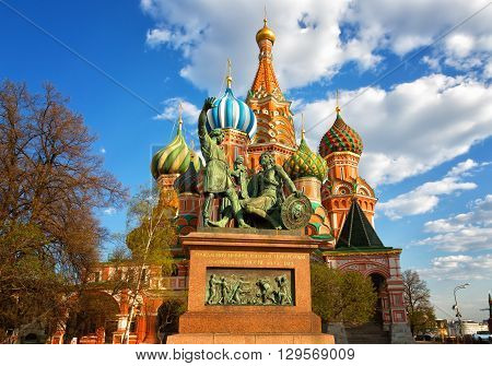St. Basil's Cathedral on Red Square Moscow