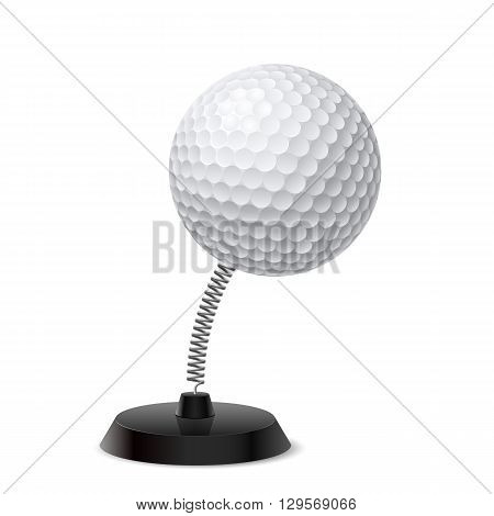 Table souvenir in form of golf ball on spring