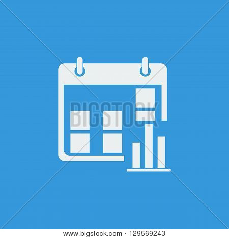 Calendar Stats Icon In Vector Format. Premium Quality Calendar Stats Symbol. Web Graphic Calendar St