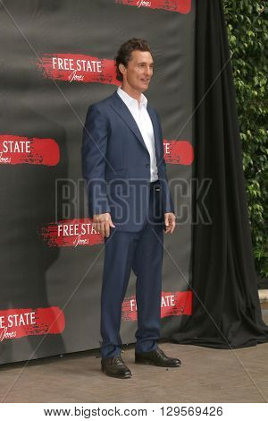 LOS ANGELES - MAY 11:  Matthew McConaughey at the Free State Of Jones Photocall at the Four Seasons Hotel Los Angeles at Beverly Hills on May 11, 2016 in Los Angeles, CA