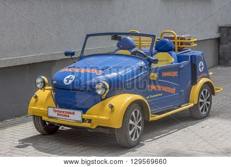 ROSTOV-ON-DON RUSSIA- MAY 11- Beautiful car owned by The touching zoo on May 112015 in Rostov-on-Don
