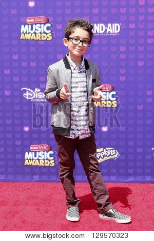 LOS ANGELES - APR 29:  Nicolas Bechtel at the 2016 Radio Disney Music Awards at the Microsoft Theater on April 29, 2016 in Los Angeles, CA