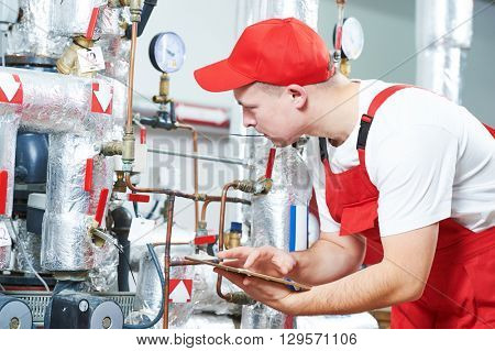 boiler heating system inspection