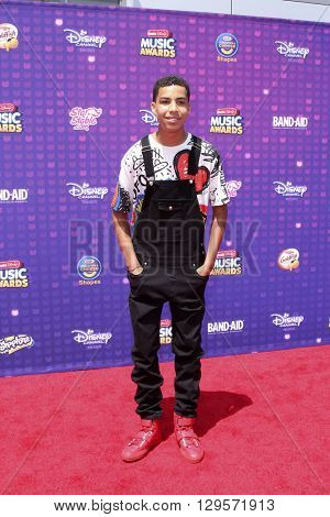 LOS ANGELES - APR 29:  Marcus Schribner at the 2016 Radio Disney Music Awards at the Microsoft Theater on April 29, 2016 in Los Angeles, CA