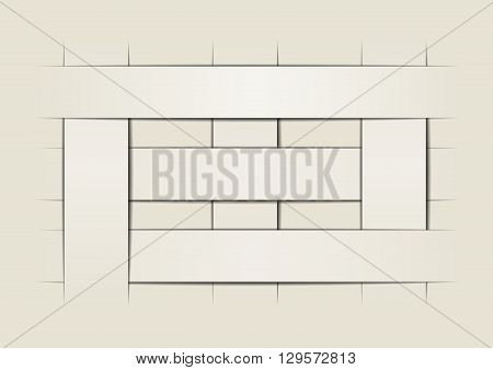 template with three rows and columns abstract background vector  design
