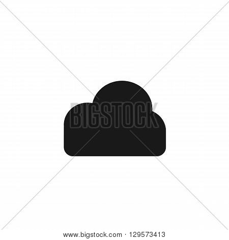 cloud information weather black web icon illustration for mobile app color picture on a white background