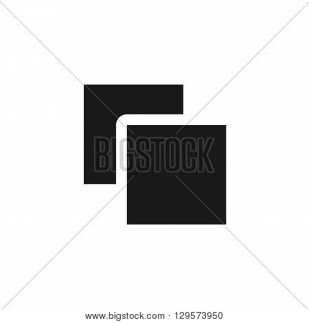 folder and file black web icon illustration for mobile app color picture on a white background