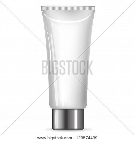 Cream Tube With A Silver Cap