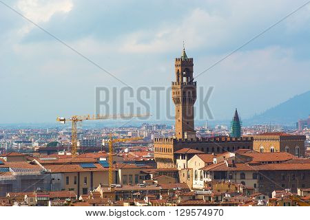 palazzo vecchio tower (or Tower of Arnolfo) in Florence