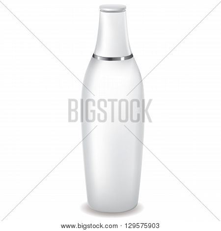 White Lotion Bottle