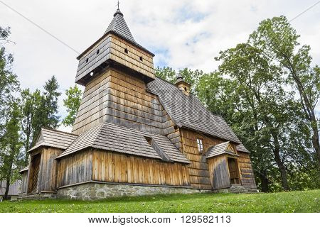 GRYWALD, POLAND - AUGUST 29: Historic church of Saint Martin, built in fifteenth century on August 29, 2010 in Grywald.