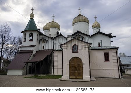 Churches Of The Apostle Philip And Nicholas The Wonderworker On Nutnaya Street. Veliky Novgorod, Rus