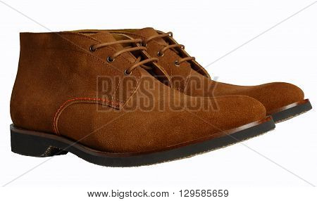 men's suede shoes on a white background