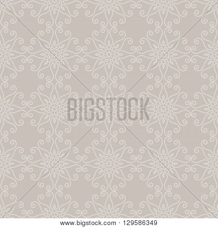 Seamless geometric pattern. Ornamental texture. Lace seamless pattern. Floral motifs. Vector abstract background. Arabic Islamic motifs.