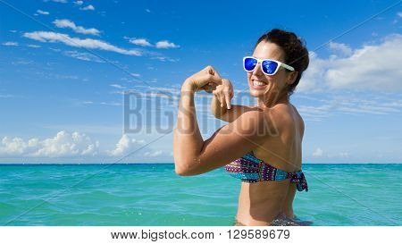 Fitness Summer Goals And Caribbean Vacation Concept
