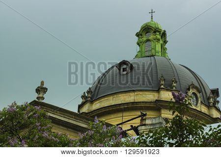 Dome of the church of the Dominican Cathedral, Lvov