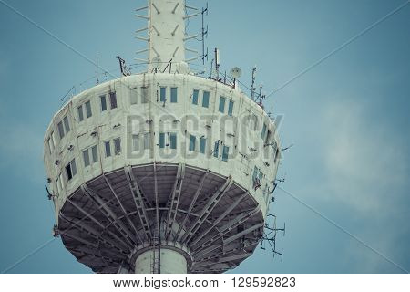 Tbilisi, Georgia - May 07, 2016:fragment Of The Tbilisi Tv Tower On Mount Mtatsminda