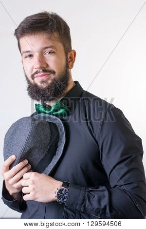 Fashionable Man With A Bow Tie