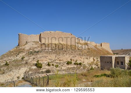 Ash Shubak Castle Jordan. The castle is a popular stopping point on the way to Petra.